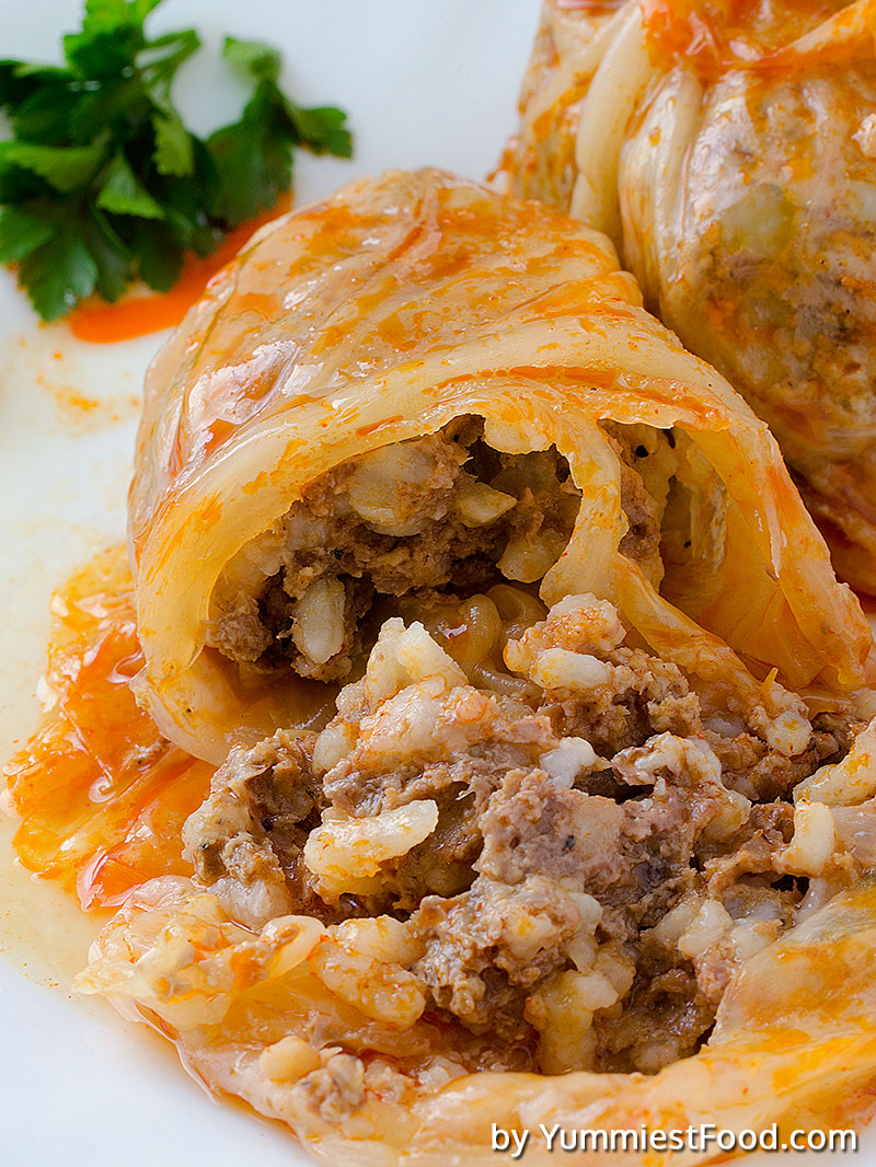 Cabbage rolls with pork