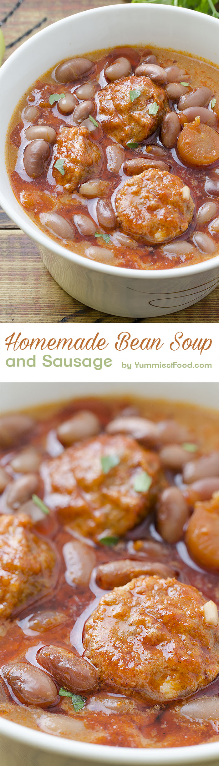 Bean Soup - delicious, homemade recipe and really easy to cook - bean soup!