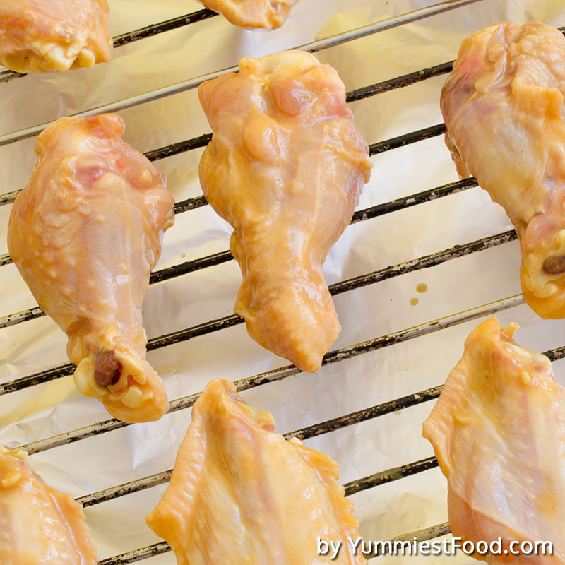 Marinated Chicken Wings - Raw