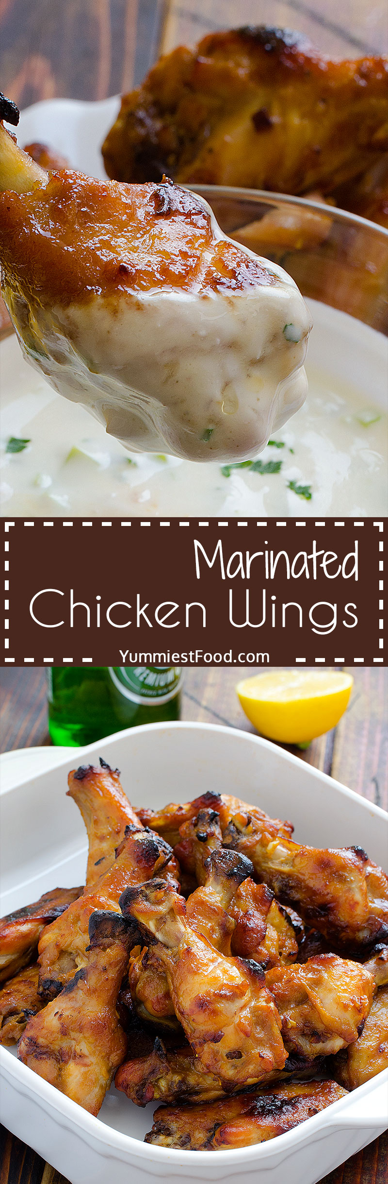 Marinated Chicken Wings - delicious and tasty dish which give the other dimension of preparing chicken wings