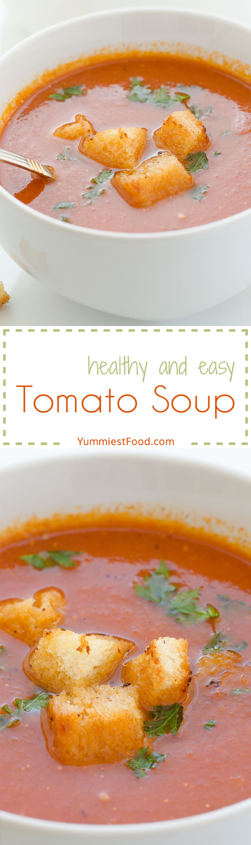 Tomato Soup - Try to make this tomato soup on my way, your family will stay speechless and you will cook it again and again