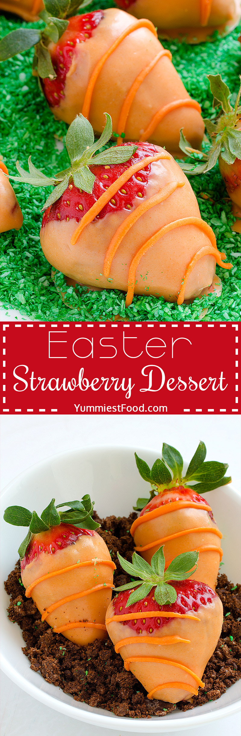 You only need a few ingredients for this Easter strawberry dessert, and your Easter family table will look incredible and full of imagination with this strawberry dessert