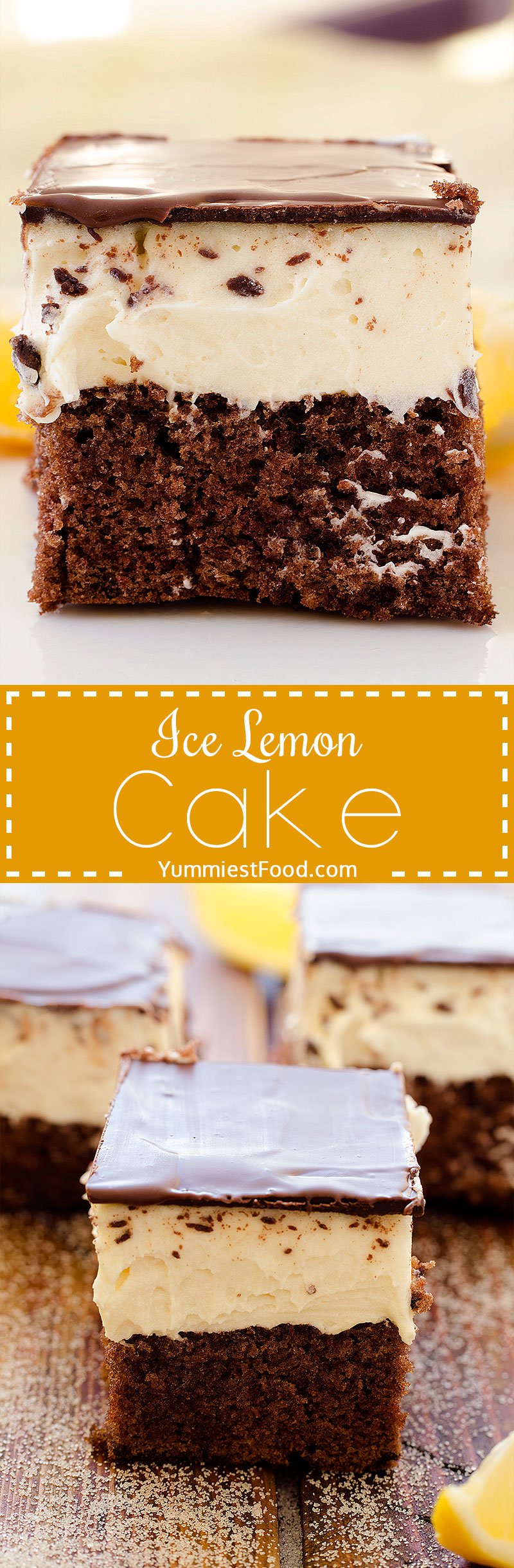 Ice Lemon Cake - Try to make Ice lemon cake, very quick, easy, creamy, so soft and perfect for every occasion
