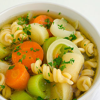 Soup With Vegetables and Pasta - Featured Image