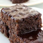Brownies With Chocolate Topping - Featured Image