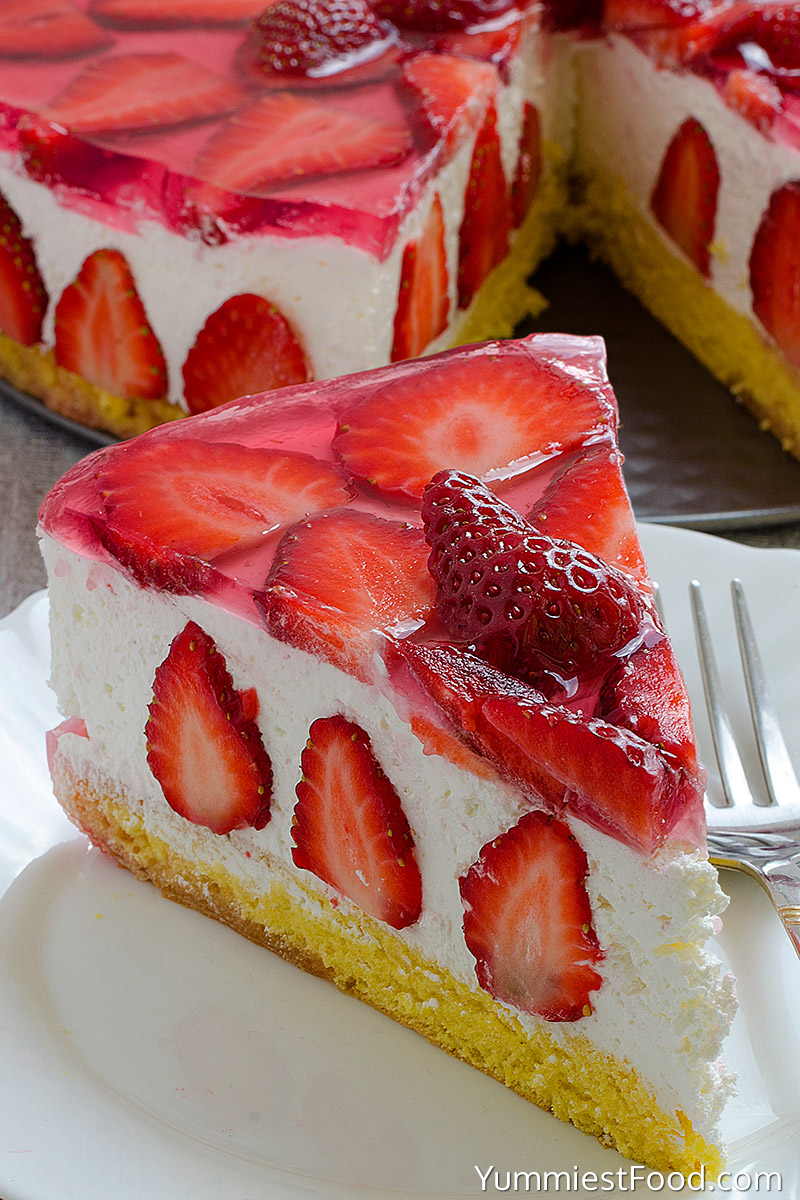 Strawberry Cheesecake - On the Plate