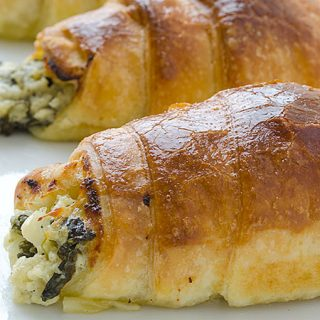 Cheesy Spinach Crescents - Featured Image