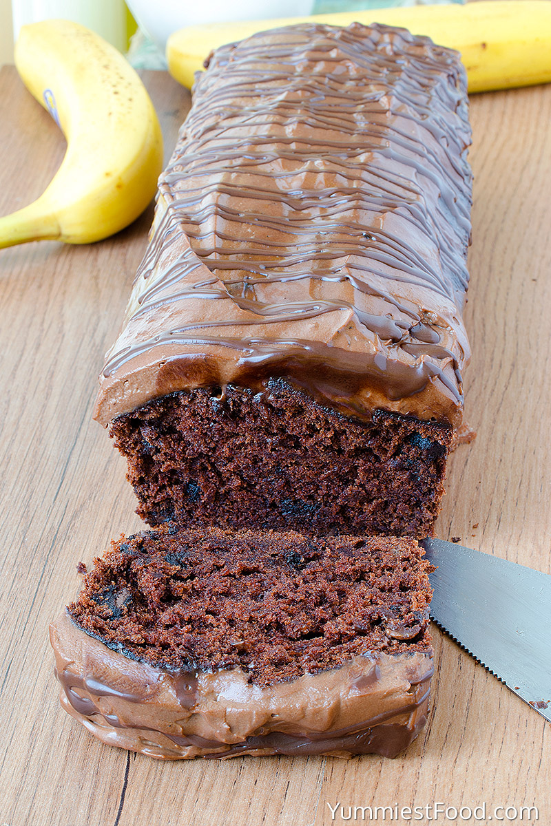 Chocolate Banana Bread - With Bananas