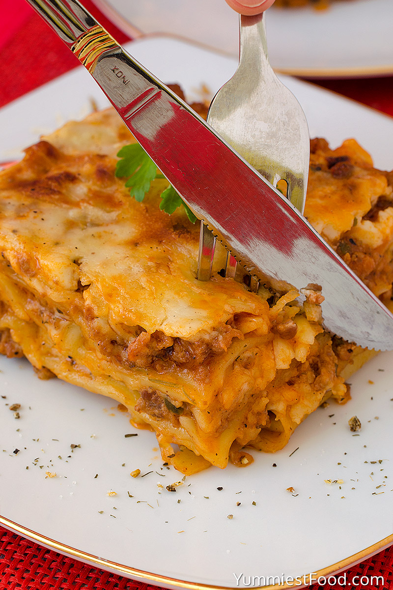 Lasagna - Italian specialty with so delicious and soft pasta with meat
