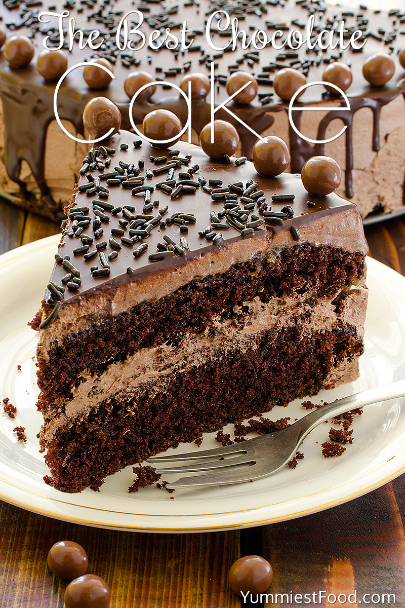 The BEST Chocolate Cake, perfect cake for chocolate lovers! Soft ...