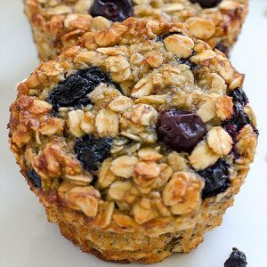Baked Blueberry Banana Oatmeal Cups