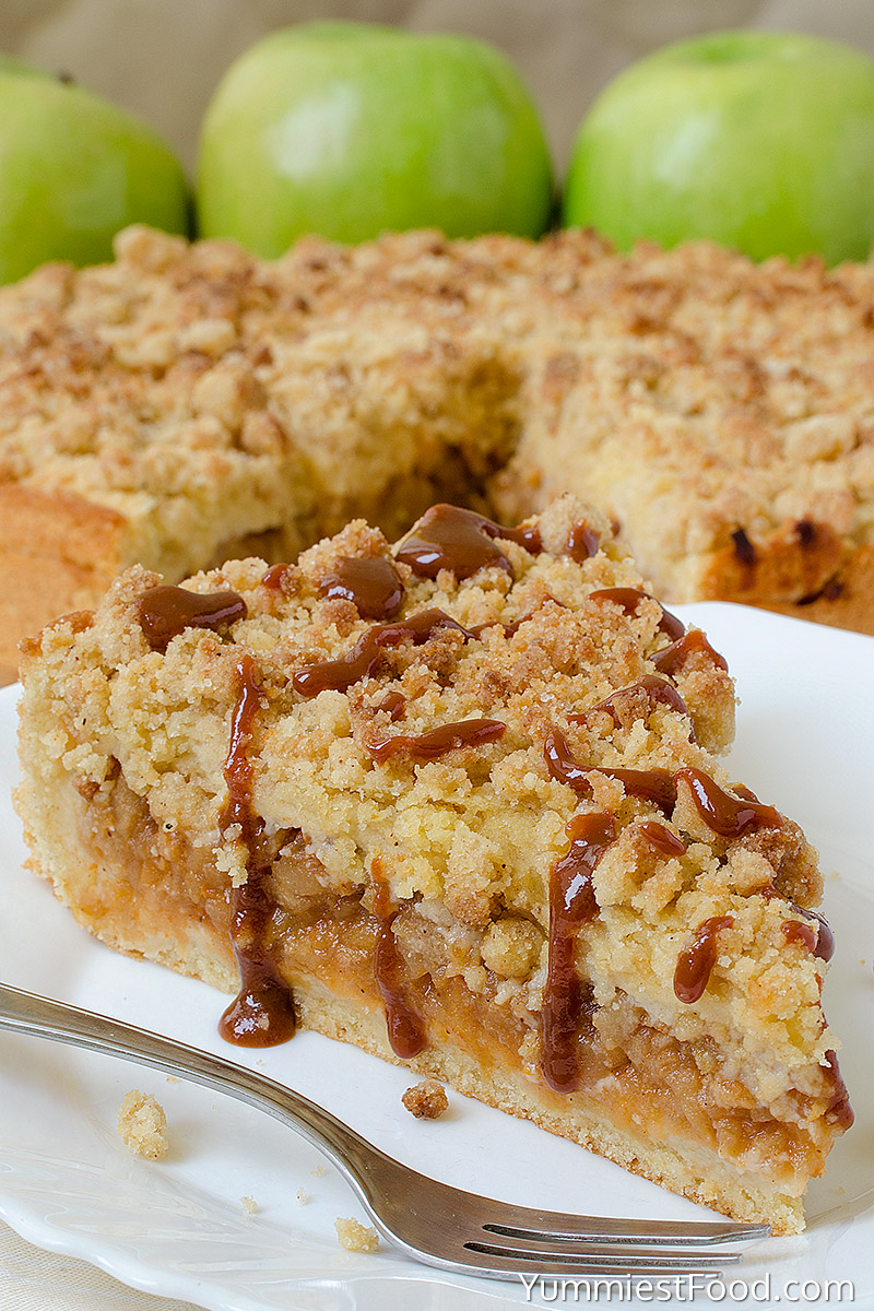 Caramel Apple Crumb Cake - Served