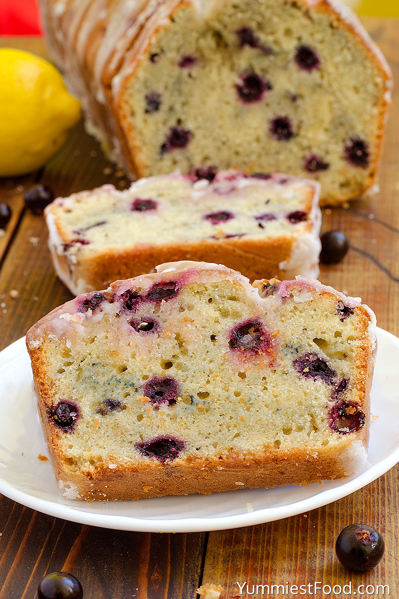 Lemon Blueberry Bread - on the plate