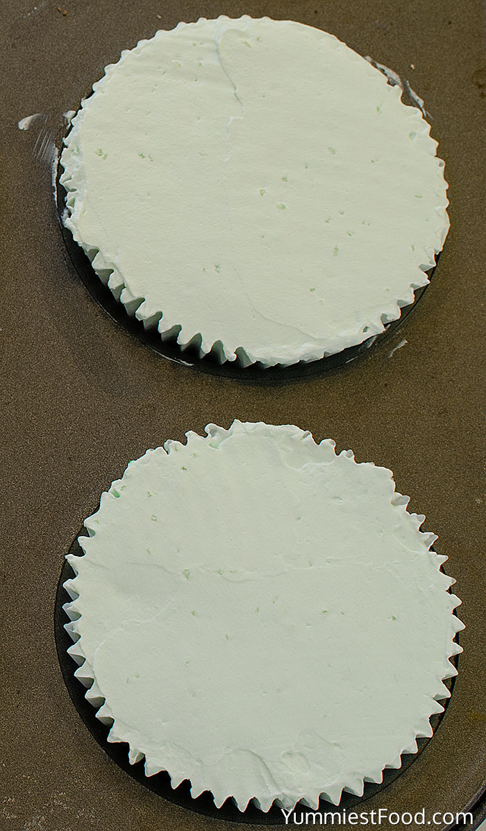 The Best Mini Mint Cheesecake - Making - Step 01