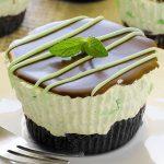Mini Mint Cheesecake - Featured Image