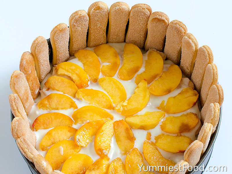 Banana Peach Ice Box Cake - Making - Step 3