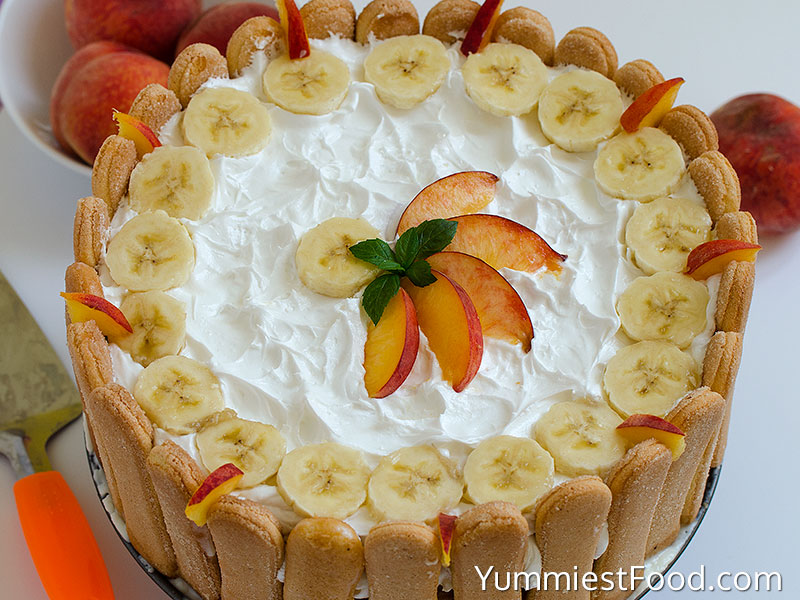 Banana Peach Ice Box Cake - a Whole Cake