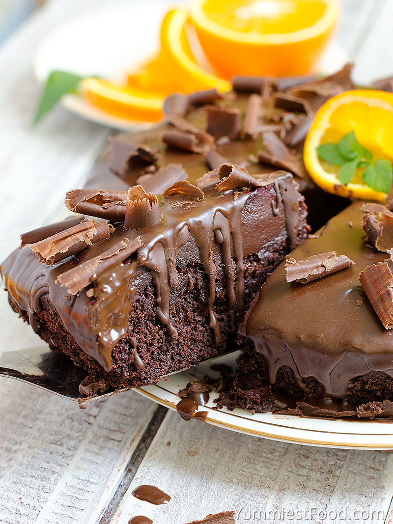 Chocolate Orange Cake - Cutted Cake