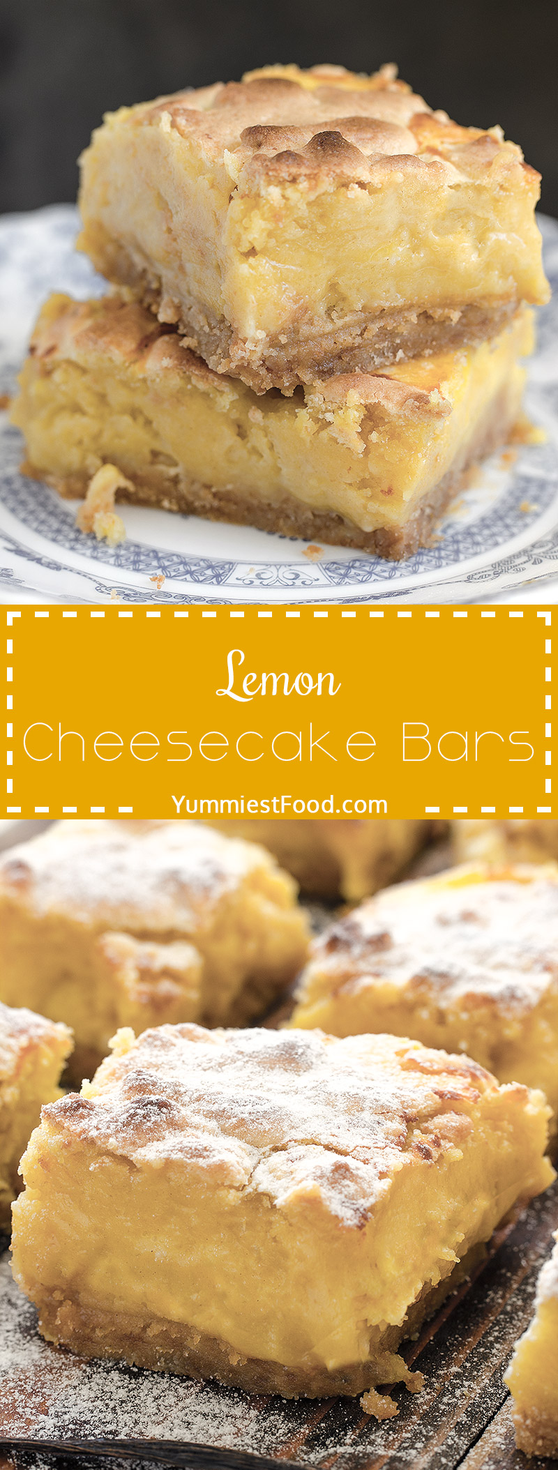 Lemon Cheesecake Bars – creamy, light and refreshing cheesecake bars with lemon juice