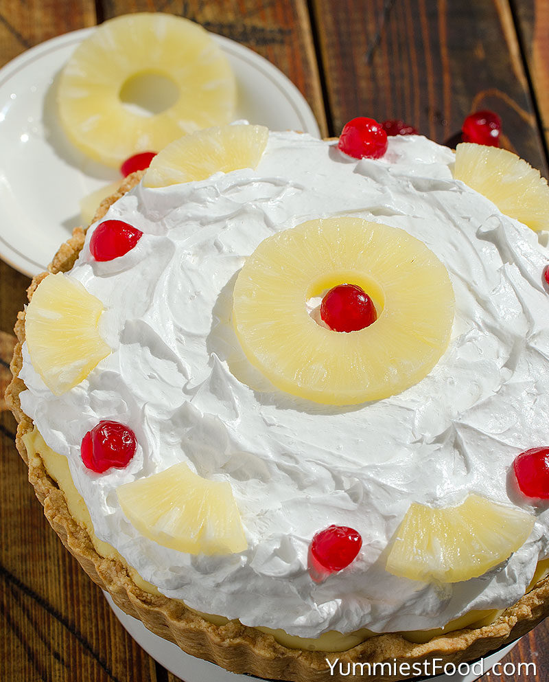 Pineapple Pie - a Whole Pie