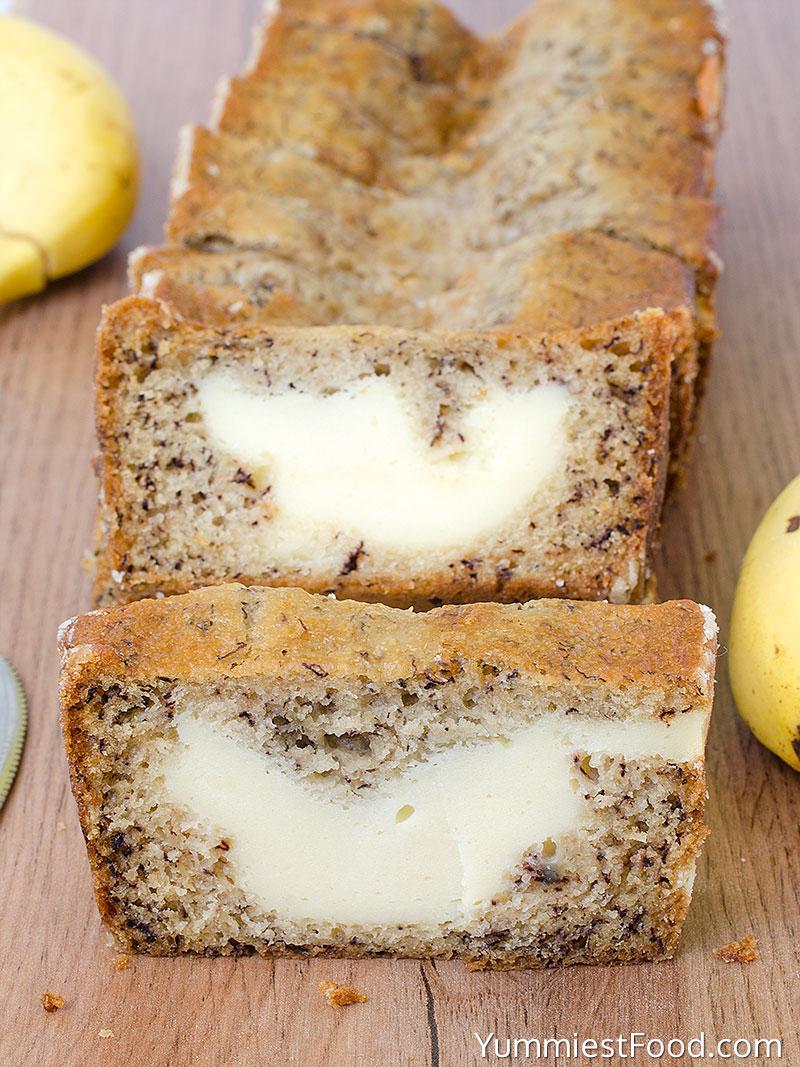 Cream Cheese Banana Bread - at the table