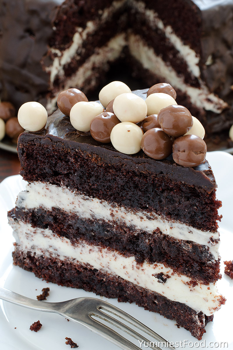 Chocolate Layer Cake with Cream Cheese Filling - Recipe from ...