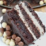 Chocolate Layer Cake with Cream Cheese Filling - Featured Image