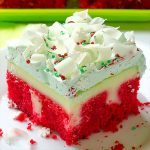 Christmas Red Velvet Poke Cake - Featured Image