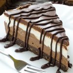 Layered Chocolate Cheesecake with Oreo Crust - Featured Image