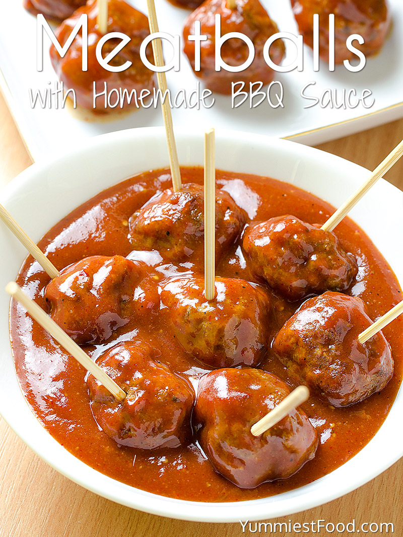 Meatballs with Homemade BBQ Sauce