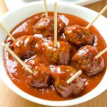 Meatballs with Homemade BBQ Sauce - Featured Image