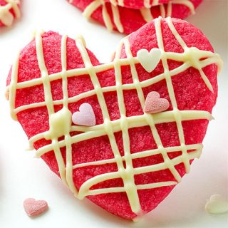 Valentine Shortbread Cookies - Featured Image