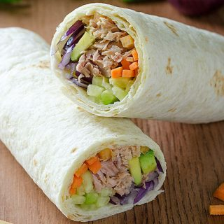 Healthy Tuna Wraps - Featured Image
