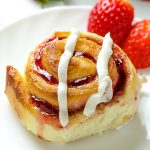 Strawberry Sweet Rolls with Vanilla Cream Cheese Glaze - Featured Image