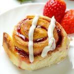 Strawberry Sweet Rolls with Vanilla Cream Cheese Glaze - Featured Image