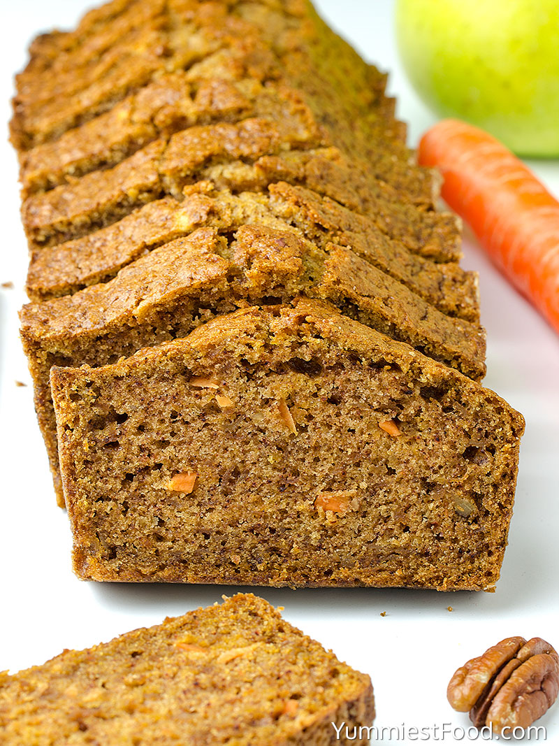 Carrot Apple Bread - at the table