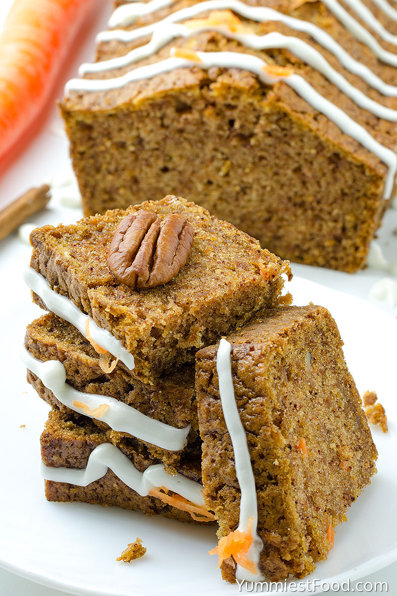 Carrot Apple Bread - served on the plate