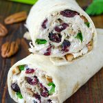 Chicken, Cranberry, Pecan Salad Wraps - Featured Image