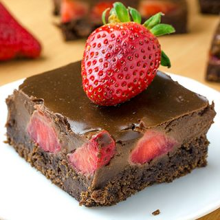 Chocolate Covered Strawberry Brownies - Featured Image
