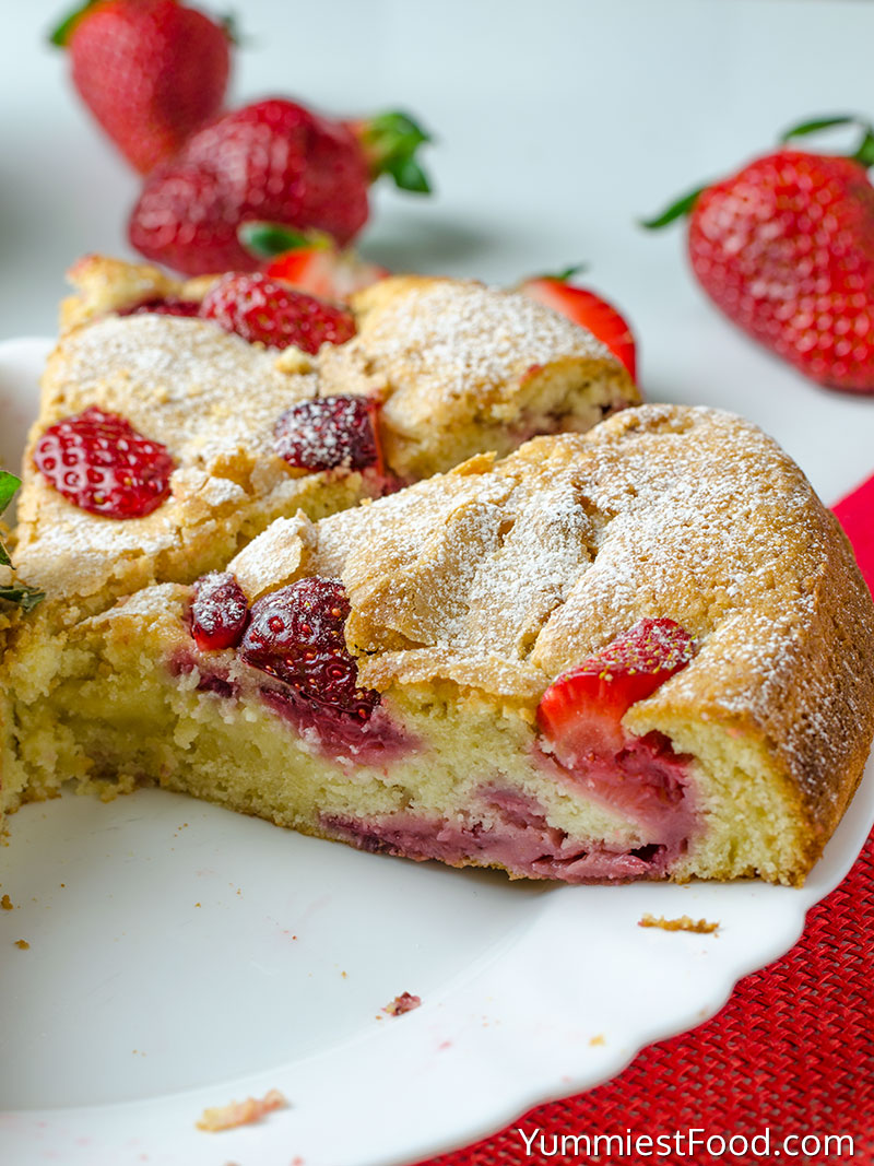 Strawberry Cake - on the plate