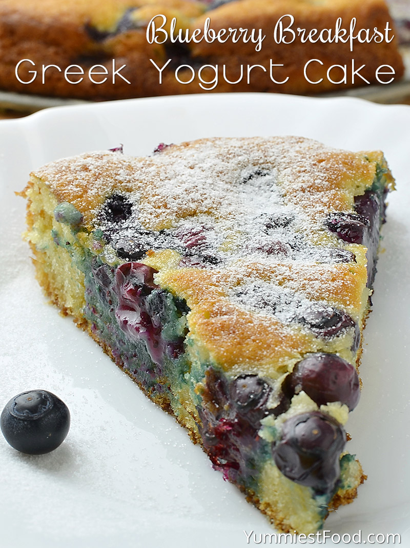 Blueberry Breakfast Greek Yogurt Cake