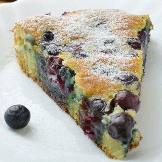 Blueberry Breakfast Greek Yogurt Cake - Featured Image