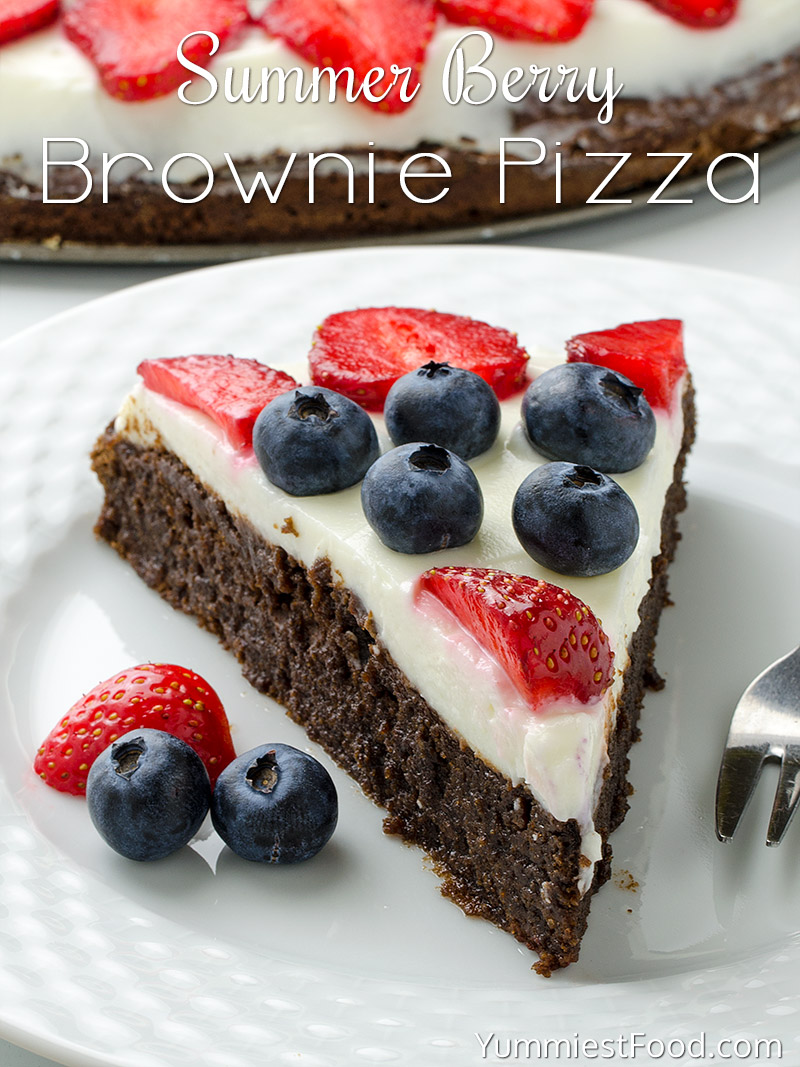 Summer Berry Brownie Pizza
