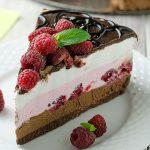 No Bake Chocolate Raspberry Cheesecake - Featured Image