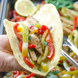 Easy Grilled Chicken Fajitas - Featured Image