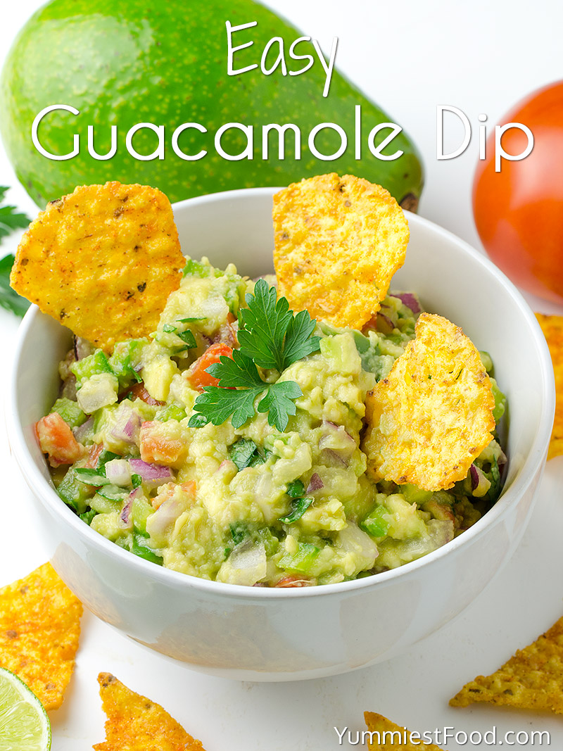 Easy Guacamole Dip Recipe From Yummiest Food Cookbook