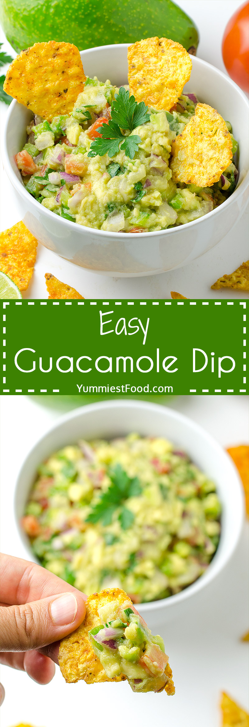 Easy Guacamole Dip - perfect choice for light dinner