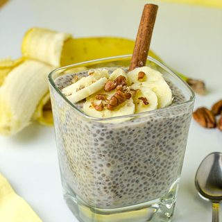 Healthy Breakfast Banana Chia Pudding - Featured Image