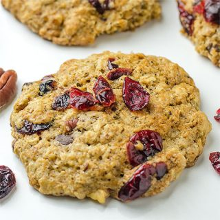 Breakfast Oatmeal Cranberry Pecan Cookies