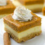 Pumpkin Cheesecake Bars - Featured Image